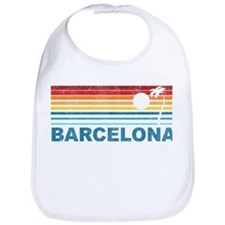 Retro Palm Tree Barcelona Bib