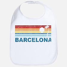 Retro Palm Tree Barcelona Bib