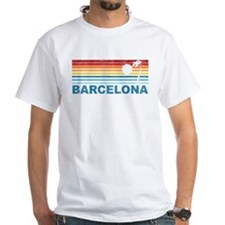 Retro Palm Tree Barcelona Shirt