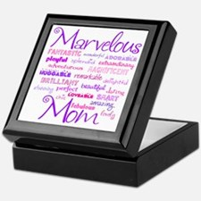 Marvelous Mom (Mother) Keepsake Box