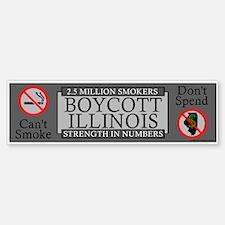 """""""Boycott Illinois"""" Bumper Bumper Bumper Sticker"""