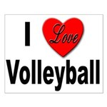 I Love Volleyball Small Poster