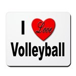 I Love Volleyball Mousepad