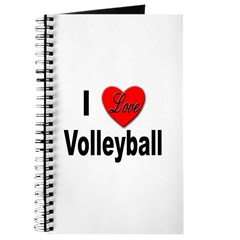 I Love Volleyball Journal