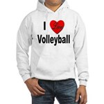 I Love Volleyball (Front) Hooded Sweatshirt