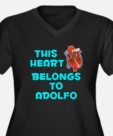 This Heart: Adolfo (B) Women's Plus Size V-Neck Da
