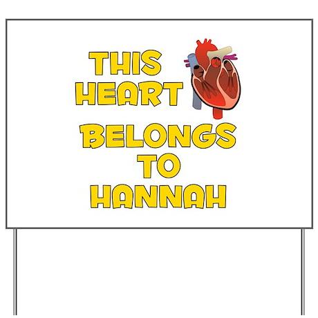 This Heart: Hannah (A) Yard Sign