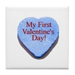 My First Valentine's Day Tile Coaster