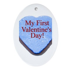 My First Valentine's Day Oval Ornament