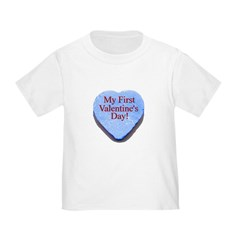 My First Valentine's Day Toddler T-Shirt