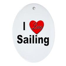 I Love Sailing Keepsake (Oval)
