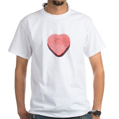 Valentine's Day Candy Heart R White T-Shirt