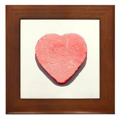 Valentine's Day Candy Heart R Framed Tile