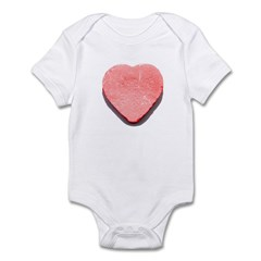 Valentine's Day Candy Heart R Infant Bodysuit