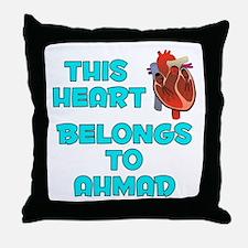 This Heart: Ahmad (B) Throw Pillow