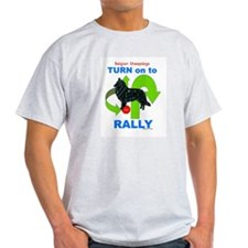 Belgian Sheepdog RALLY Ash Grey T-Shirt