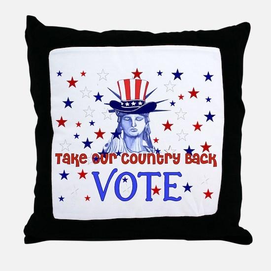 Vote Election 2008 Throw Pillow