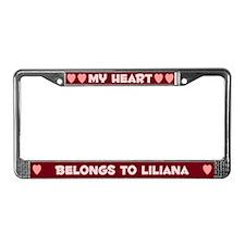 My Heart: Liliana (#007) License Plate Frame