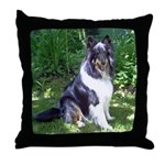 Sheltie in the Shade Throw Pillow