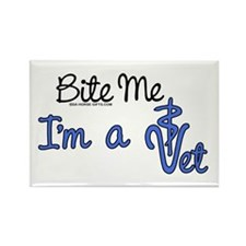 Bite Me, I'm A Vet. Veterinarian Rectangle Magnet