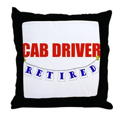 Retired Cab Driver Throw Pillow