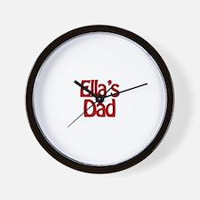 Ella's Dad Wall Clock