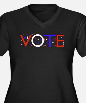 Get Out The Vote 2008 Women's Plus Size V-Neck Dar