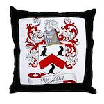 Walton Coat of Arms Throw Pillow