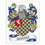 Warren Coat of Arms Small Poster