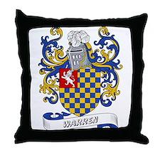 Warren Coat of Arms Throw Pillow