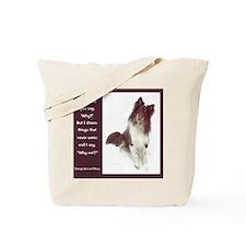 Curious Sheltie Tote Bag