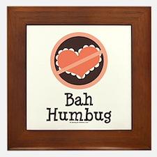 Anti-Valentines Bah Humbug Framed Tile