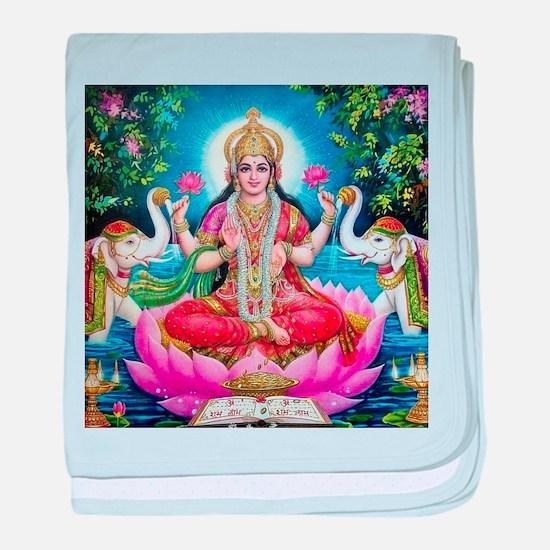 Lakshmi Goddess of Wealth, Happiness, baby blanket