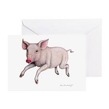 Pig ~ Greeting Card ~ BLANK