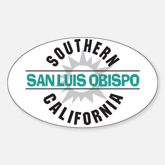 San Luis Obispo CA Sticker (Oval)