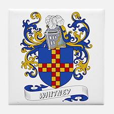 Whitney Coat of Arms Tile Coaster