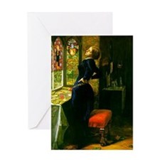 Millais Mariana Greeting Card