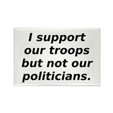 support our troops not our po Rectangle Magnet