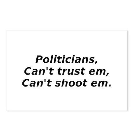 Politicans, Can't Trust Em, C Postcards (Package o