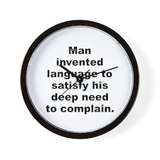 Unique Tomlin quotation Wall Clock