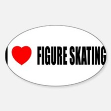 I Love Figure Skating Oval Decal