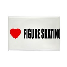 I Love Figure Skating Rectangle Magnet (10 pack)