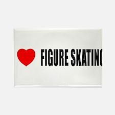 I Love Figure Skating Rectangle Magnet
