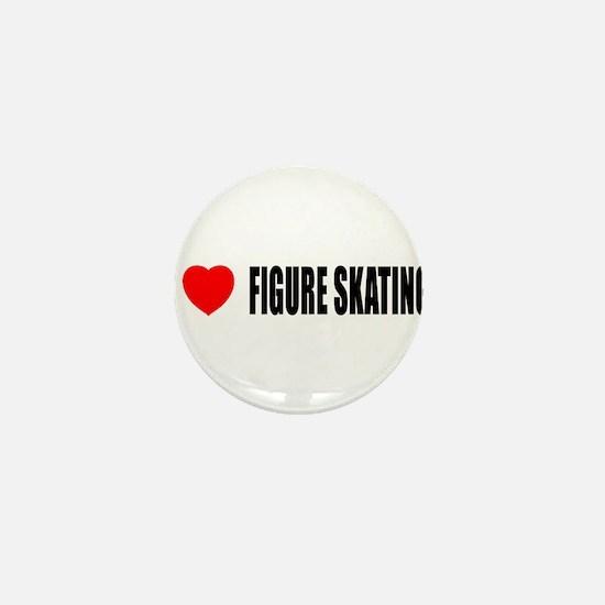 I Love Figure Skating Mini Button