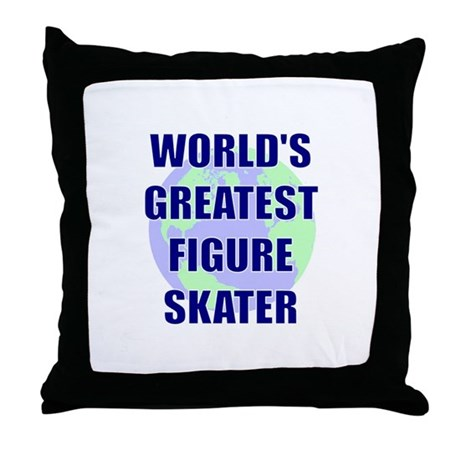 World's Greatest Figure Skate Throw Pillow