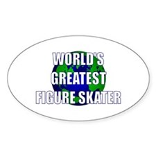World's Greatest Figure Skate Oval Decal