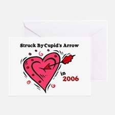 Struck By Cupid's Arrow 1 (2006) Greeting Card