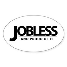 Jobless Oval Decal