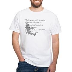 Math vs. Politics White T-Shirt