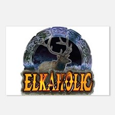 Elkaholic Elk t-shirts and gi Postcards (Package o